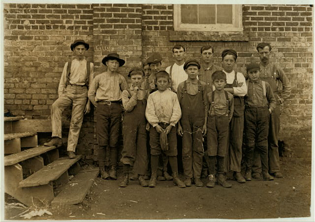 More youngsters in Newton Cotton Mills, N.C. Out of 150 employees there were 20 of these boys and girls. Dec. 21, 1908.  Location: Newton, North Carolina.