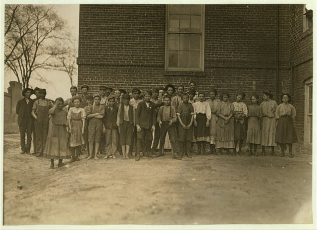 Some of the youngsters (not all) that are at work in Bibb Mill No. 2, Macon Ga.  Location: Macon, Georgia.