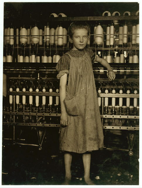 [Addie Card], anaemic little spinner in North Pownal Cotton Mill. See photo No. 1056.  Location: Vermont.