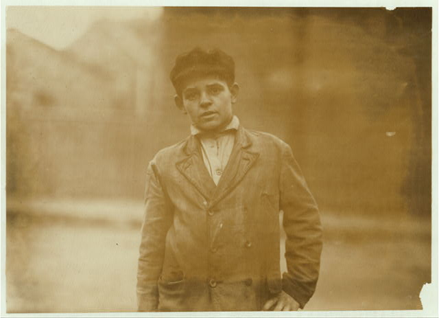 Joseph Bernard, 38 Perkins St., works in Spinning room #2.  Location: Salem, Massachusetts.