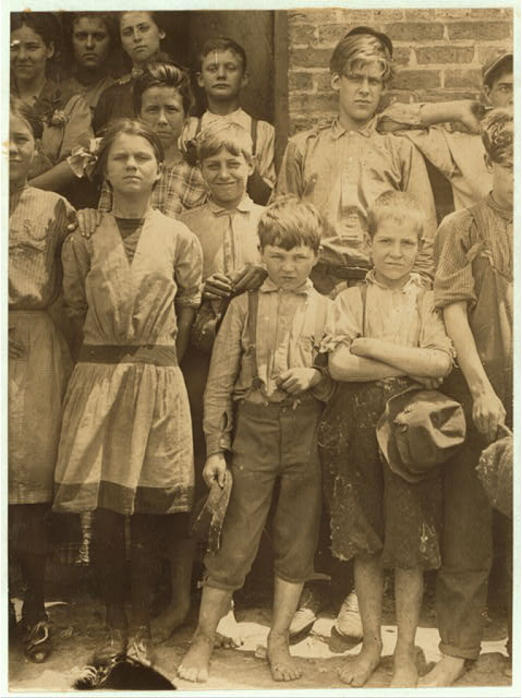 The smallest boy is a band boy, next in order is a doffer. The smallest girl is a spinner. Work in Cowpers' [i.e., Cowpen's?] Manufacturing Co., S. C., (See label 2970).  Location: [Cowpens], South Carolina.