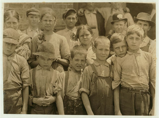 The smallest boy is a band boy, next is a doffer. The smallest girl is a spinner. Work in Cowpers' [i.e., Cowpen's?] Manufacturing Co., S.C. (See Label 2970).  Location: [Cowpens], South Carolina.