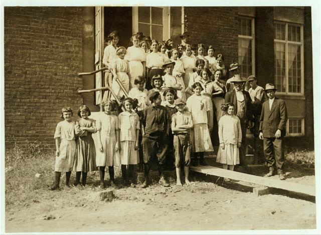 Some of the workers in the Pickett Cotton Mill, High Point, N.C., but I could not get the smallest ones into the picture.  Location: High Point, North Carolina.