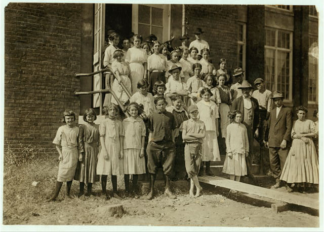 Some of the workers in the Pickett Cotton Mill, High Point, N.C., but could not get the smallest ones into the picture.  Location: High Point, North Carolina.