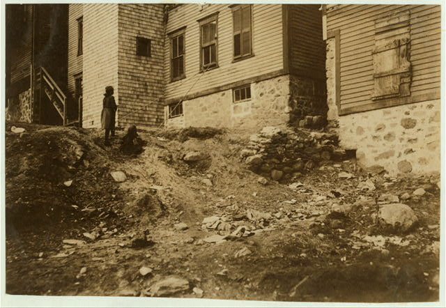 (For Child Welfare Exhibit 1912-1913.) Housing conditions, Woonsocket, R.I.  Location: Woonsocket, Rhode Island.