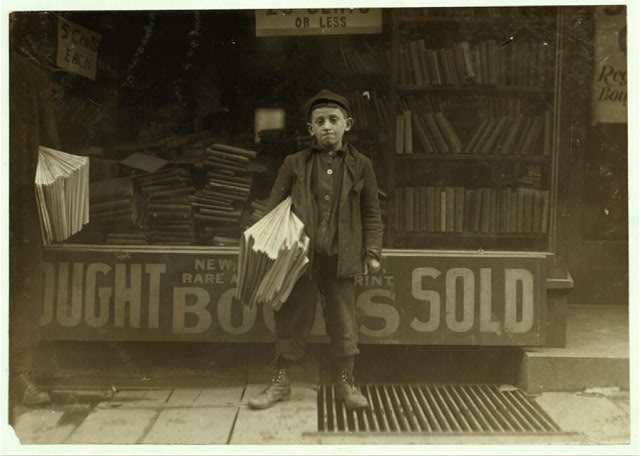 12 year old newsboy, Hyman Alpert, been selling three years. Spends evenings in Boys Club.  Location: New Haven, Connecticut.