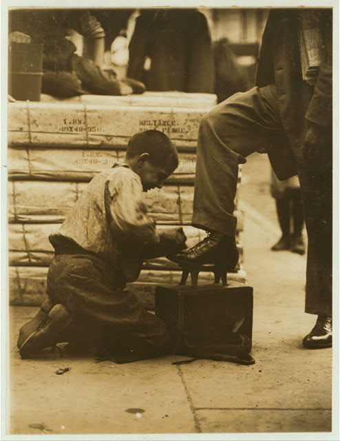 Bowery Bootblack.  Location: New York, New York (State)