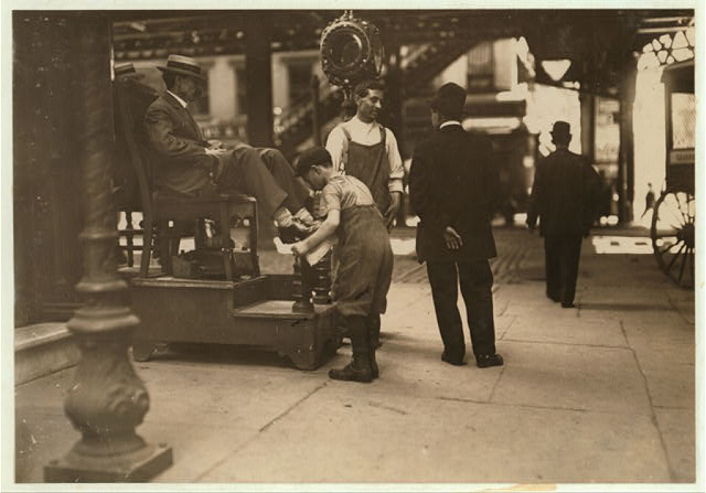 Bootblack. 3rd Ave. & 9th St.  Location: New York, New York (State)