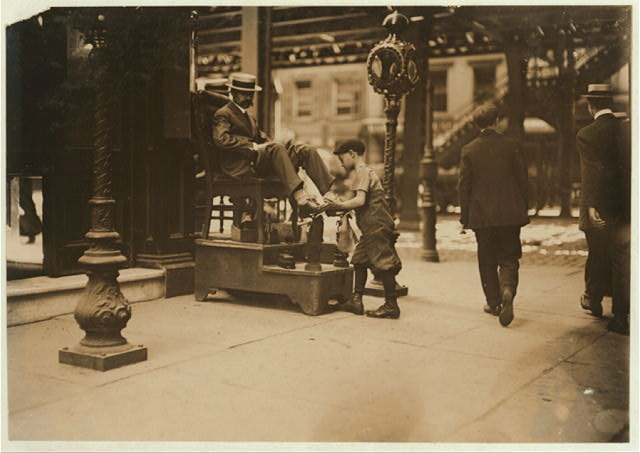 Bootblack, 3rd Ave & 9th St.  Location: New York, New York (State)
