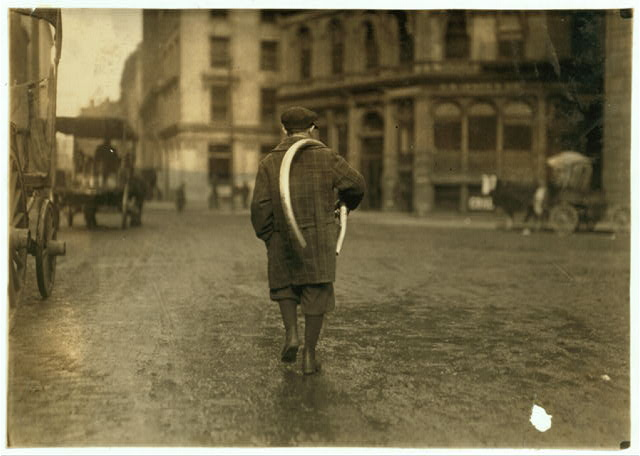 [Street scenes. Delivery boy.]  Location: [Boston, Massachusetts].