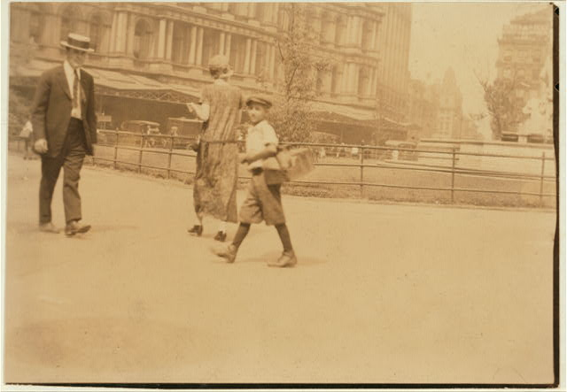Bootblacks in and around City Hall Park, New York City - July 25, 1924.  Location: New York, New York (State)