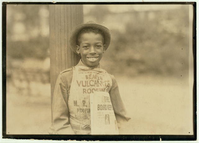 Roland, eleven year old negro newsboy, Newark, N.J. - August 1st, 1924.  Location: Newark, New Jersey.