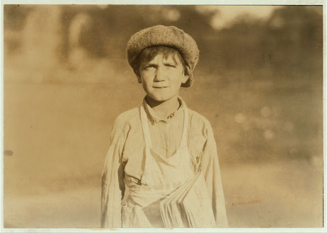 "[The newsboy, ""Jackie Coogan"" of Hartford, Conn. One of the youngest. Aug. 26, 1924. ].  Location: [Hartford], Connecticut."