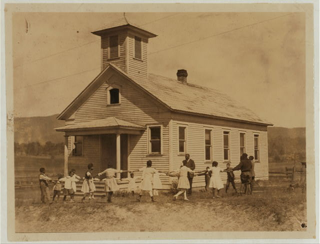 Pleasant Green School--one-room colored school near Marlinton, W. Va.--Pocahontas Co. It is one of the best colored schools in the County, with a capable principal holding a first-grade certificate. All the children are Agricultural Club workers.  Location: Pocahontas County--Marlinton, West Virginia