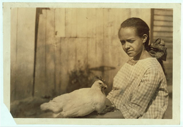 Alice Curtis and her poultry. (See Photo no. 103).  Location: Charleston [vicinity], West Virginia