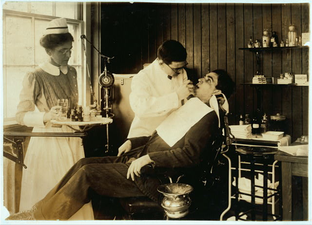 [Dental work in Hospital. Hood Rubber Co., Cambridge.]  Location: [Cambridge, Massachusetts]