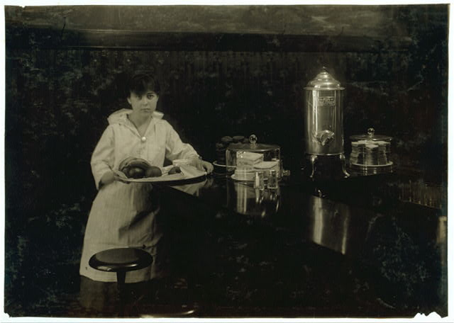 Exchange Luncheon. Delia Kane, 14 years old. 99 C Street, South Boston. A young waitress.  Location: Boston, Massachusetts