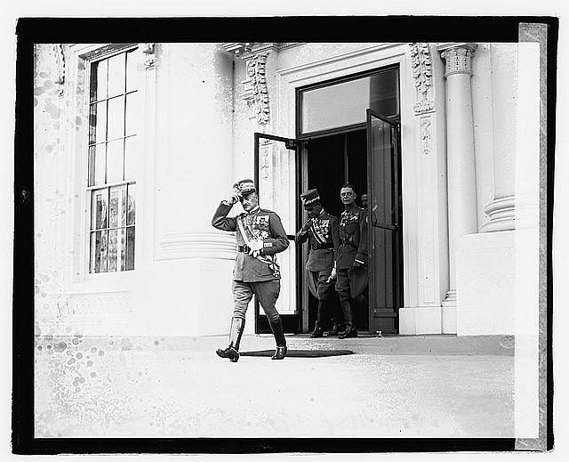 Gen'l. Diaz leaving White House, 10/24/21