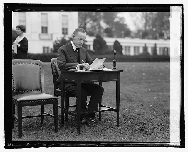 Pres. Coolidge votes by mail, [10/30/24]
