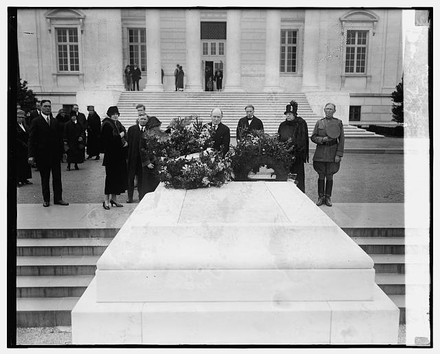 M. Firman Gemier placing wreath at Arlington, 10/30/24