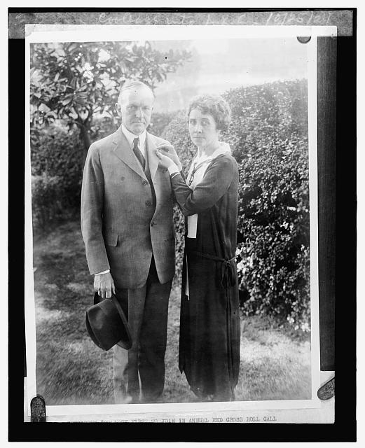 Pres. enrolled by Mrs. Coolidge into A.R.C., 10/25/24