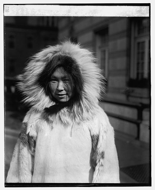 Mrs. Arnalulunguak, eskimo, with Knud Rasmussen, 11/3/24