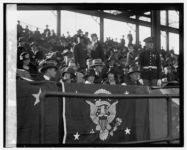 Mrs. Coolidge at Marines - Fort Benning game, [11/3/24]