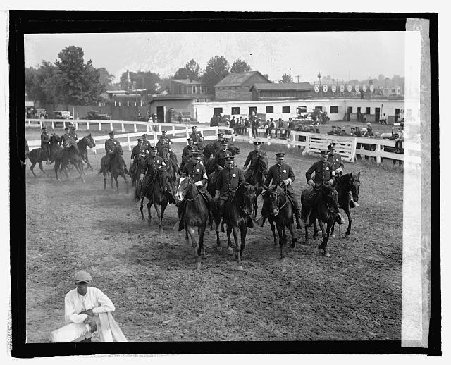 D.C. mounted police at horse show, 5/22/25