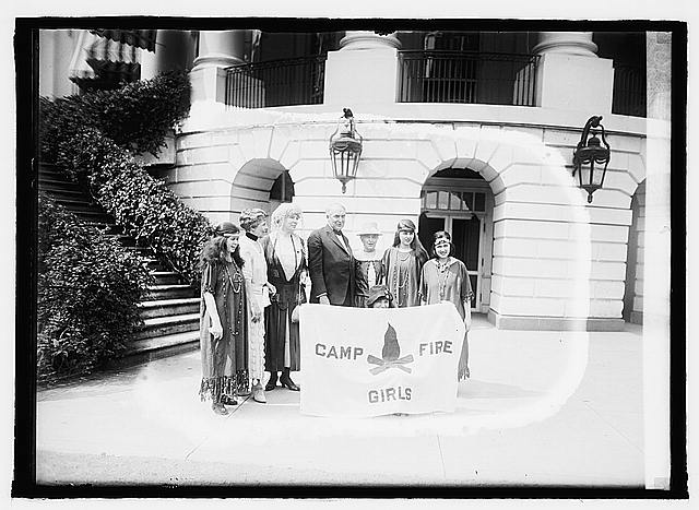 Pres. & Mrs. Harding & Campfire Girls, 6/17/21