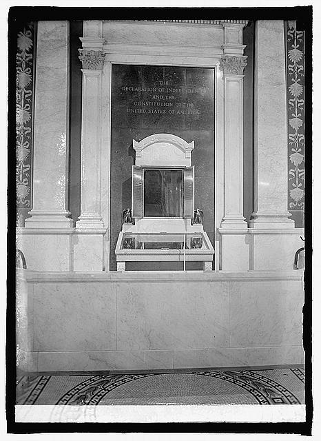 Shrine of Constitution in Cong. Library, [Washington, D.C.]