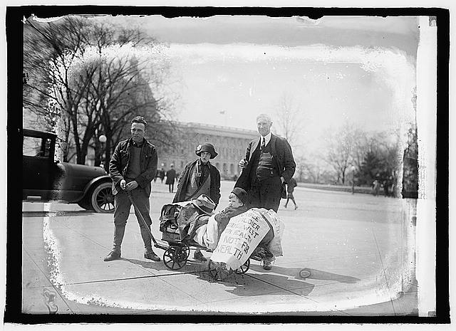 Sen. Ball with Mr. & Mrs. Geo. A. Naulty, 4/19/24