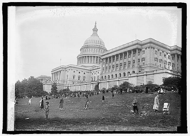 Rolling Easter eggs at Capitol, [Washington, D.C.], 4/21/24