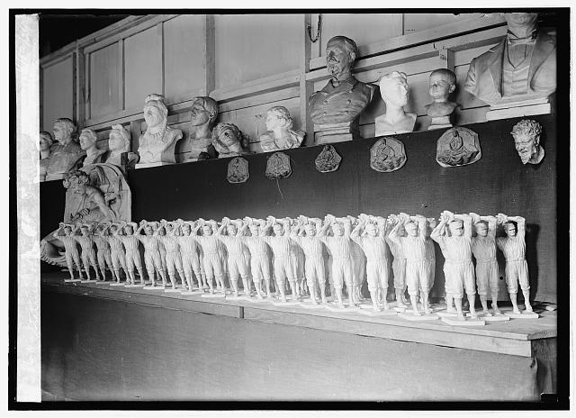 Statues of Walter Johnson at Dunbar studio, 11/12/24