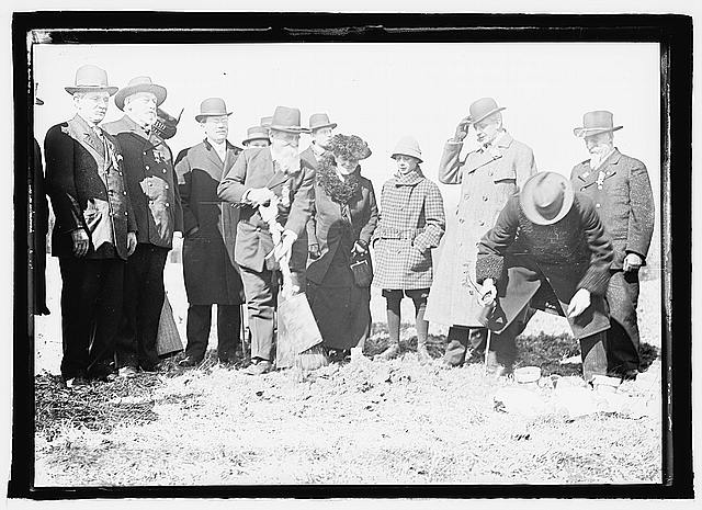 Breaking ground for Memorial Amphitheater at Arlington, Va., March 1, 1915