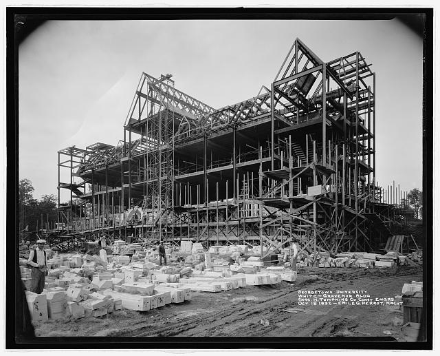 Georgetown University, [Washington, D.C.], White Gravenor bldg., Oct. 18, 1932 [Construction]