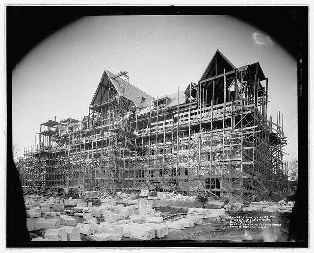 Georgetown Univ., [Washington, D.C.], construction, White Gravenor bldg., Nov. 15, 1932