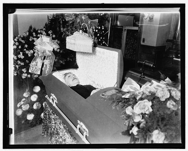 Man in coffin