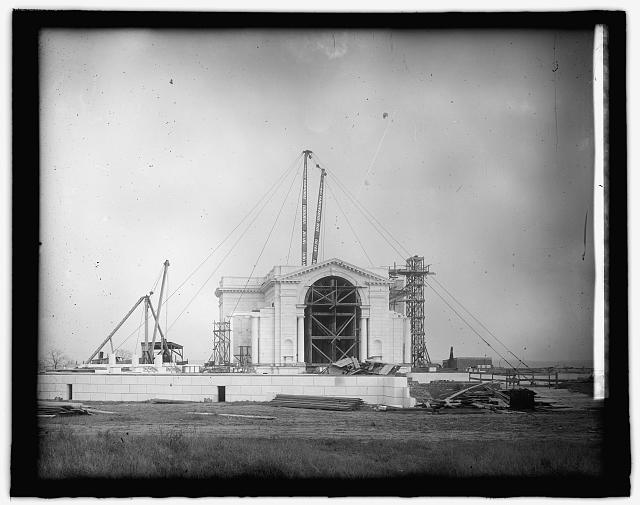 [Memorial Amphitheater at Arlington National Cemetery, Arlington, Virginia,] under const.