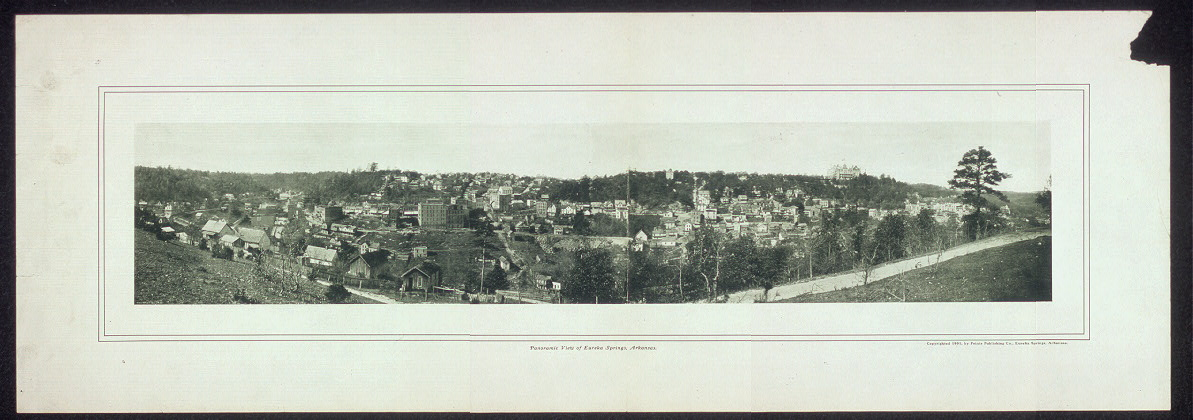 Panoramic view of Eureka Springs, Arkansas