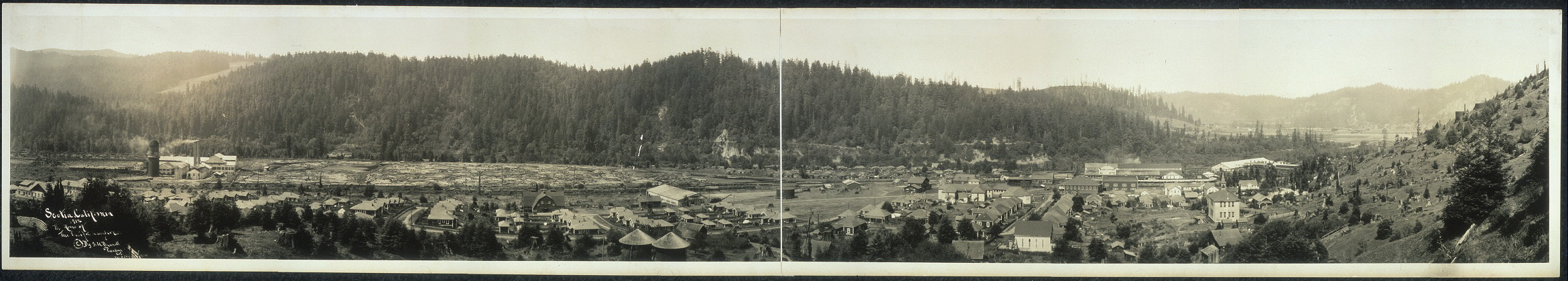 Scotia, California, 1912, the home of the Pacific Lumber Co.