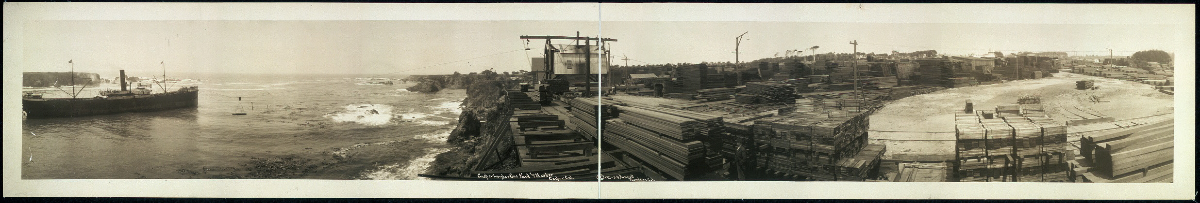 Casper [sic] Lumber Co.'s yard and harbor, Casper [sic], Cal.