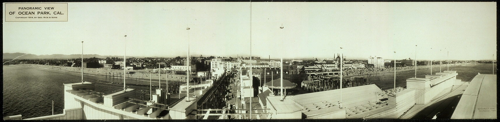 Panoramic view of Ocean Park, Cal.
