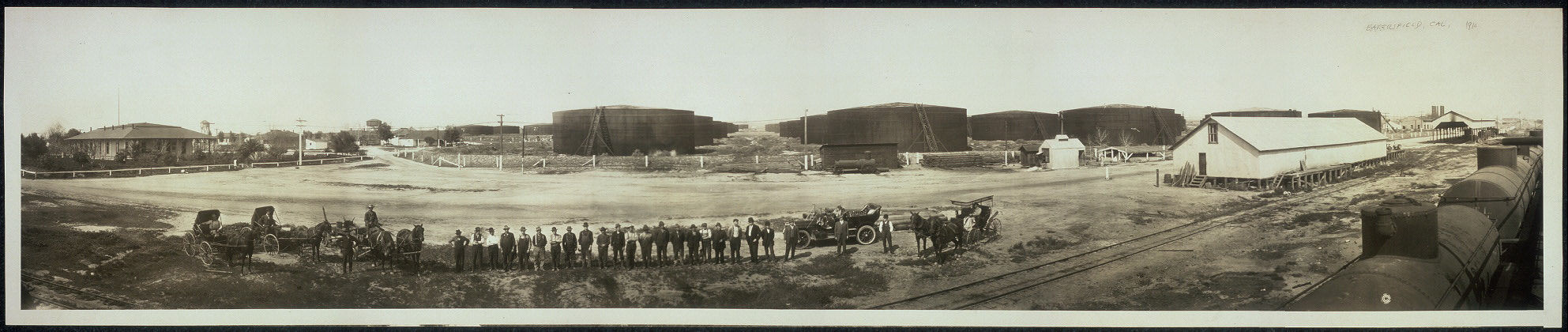 Standard Oil tanks at Bakersfield, Calif.