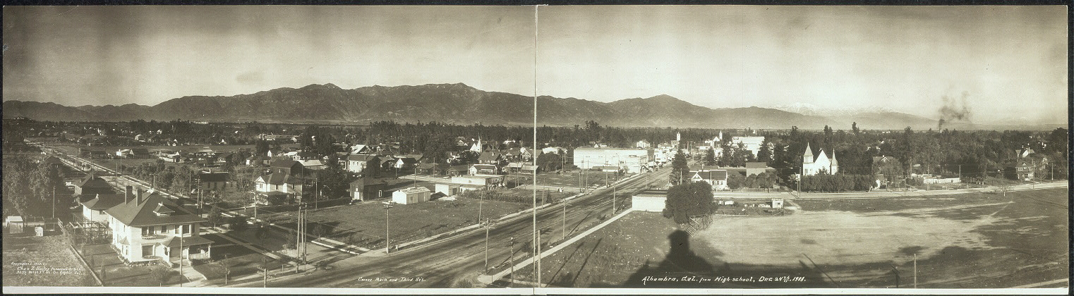 Alhambra, Cal. from high-school, Dec. 24th, 1909