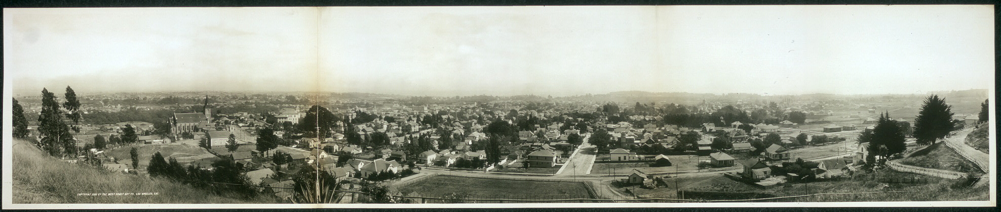 Panorama of Santa Cruz, Calif.