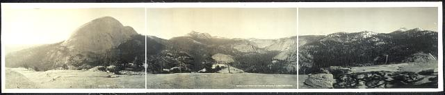 Panorama of Little Yosemite from Liberty Cap