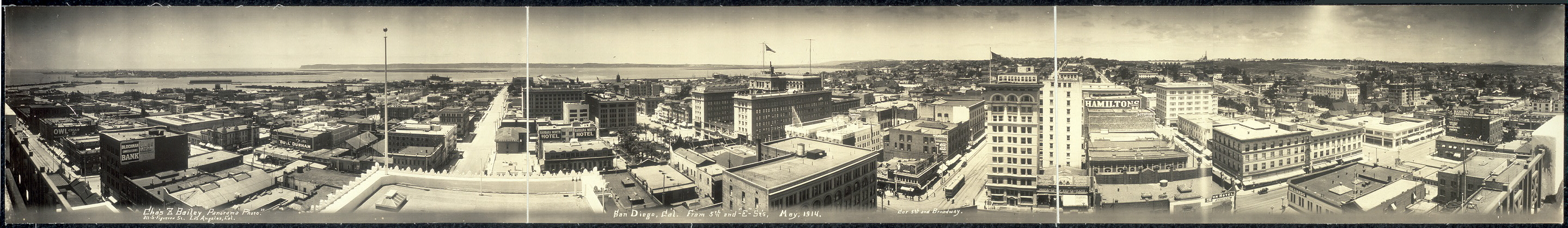 "San Diego, Cal., from 5th and ""E"" Sts., May 1914"