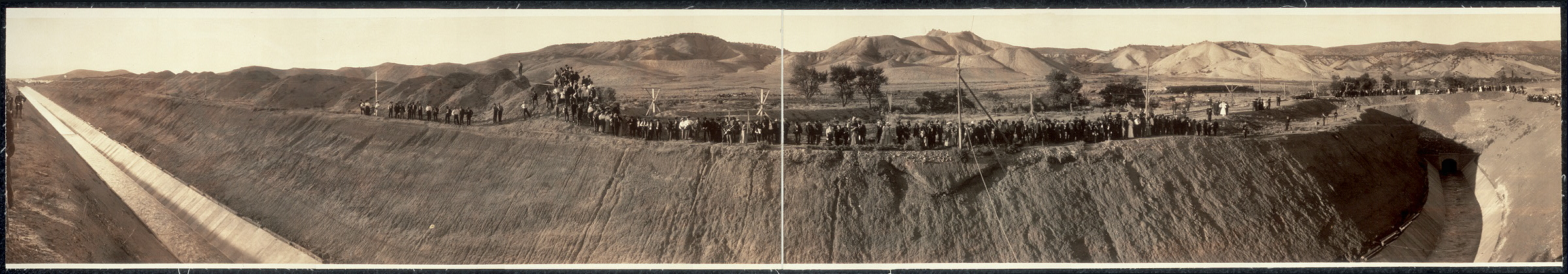 Official opening of the Gunnison Tunnel by President Taft at the west portal, Montrose, Colo., Sept. 23, 1909