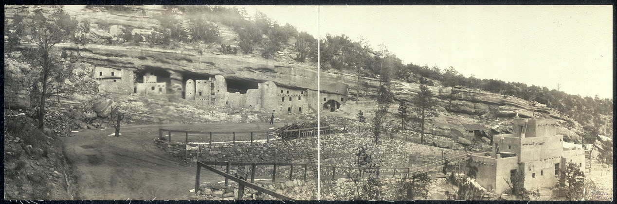 Ruins of cliff dwellings, Colorado