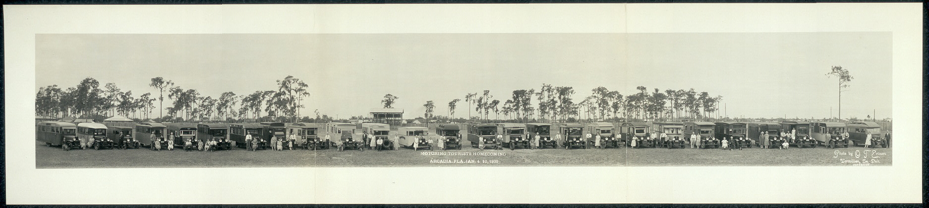 Motoring tourists homecoming, Arcadia, Fla., Jan. 4-10, 1932